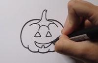 Halloween pompoen leren tekenen! filmpjes