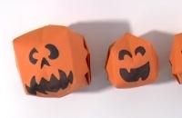 Halloween pompoenen vouwen