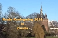Route Koningsdag 2016 in Zwolle