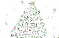 Kerstmis - Jill - Glamour kerstboom tekenen