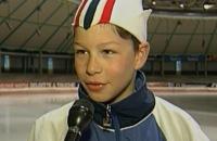 Jeugdjournaal - Kleine Sven Kramer in het Jeugdjournaal