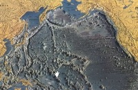 De geboorte van een vulkanisch eiland in de archipel Tonga , eilandboog, subductie,troggen