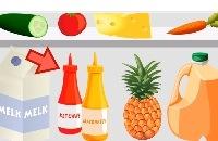 Wat zit er in de koelkast. Kinderen Peuters en Kleuters leren Nederlands