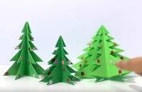 Origami kerstboom vouwen