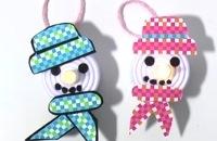 Sneeuwpop lichtje knutselen