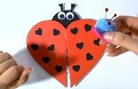 Lieveheersbeest maken voor Valentijnsdag