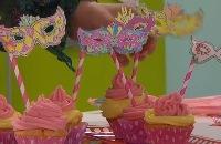 Jill - Carnaval cupCakes met eetbaar masker
