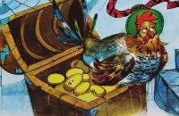 De Kip met de Gouden Eieren - fabel van La Fontaine met plaatjes