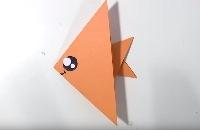 Vissen vouwen van papier (origami)
