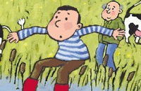 Appie en opa: Slootje springen