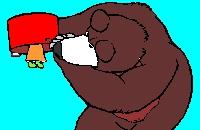 Masha en de beer - Kleurplaat
