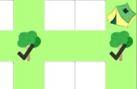 Bomen en tenten Spelletjes