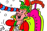 Carnaval - Kleurplaat
