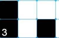 Tik op de zwarte tegels