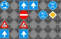 Verkeersborden wegwerken