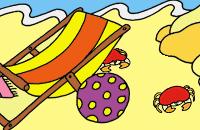 Dribbel op het strand